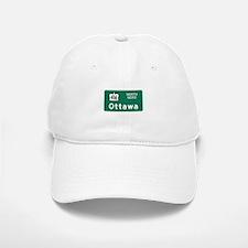 Ottawa, Canada Hwy Sign Baseball Baseball Cap