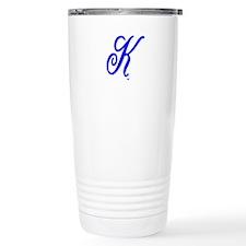 "Initial ""K"" Travel Mug"