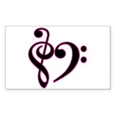 Music Rectangle Decal