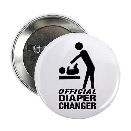 """Official Diaper Changer (M) 2.25"""" Button"""
