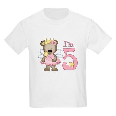 Bear Princess 5th Birthday Kids Light T-Shirt