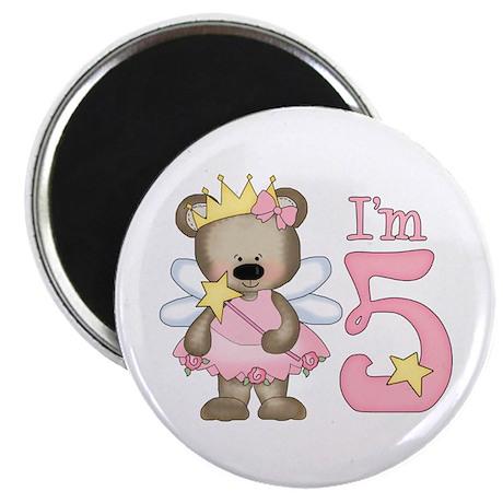 Bear Princess 5th Birthday Magnet