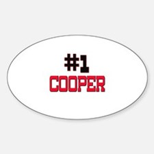 Number 1 COOPER Oval Decal