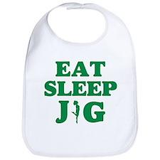 EAT SLEEP JIG Bib