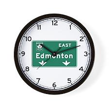 Edmonton, Canada Hwy Sign Wall Clock