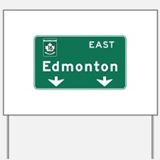 Edmonton, Canada Hwy Sign Yard Sign