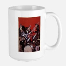 Vintage Music, Art Deco Jazz Ceramic Mugs