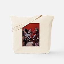 Vintage Music, Art Deco Jazz Tote Bag
