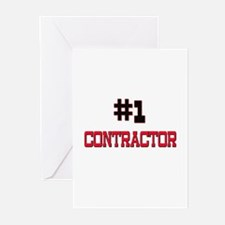 Number 1 CONTRACTOR Greeting Cards (Pk of 10)