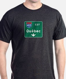 Quebec, Canada Hwy Sign T-Shirt