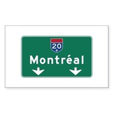 Montreal, Canada Hwy Sign Rectangle Decal