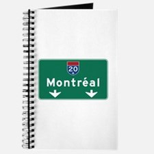 Montreal, Canada Hwy Sign Journal