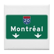 Montreal, Canada Hwy Sign Tile Coaster