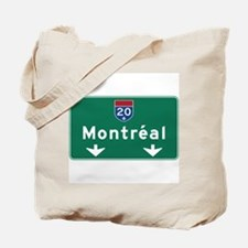 Montreal, Canada Hwy Sign Tote Bag