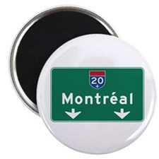 "Montreal, Canada Hwy Sign 2.25"" Magnet (10 pack)"