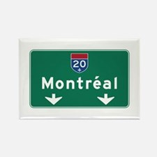 Montreal, Canada Hwy Sign Rectangle Magnet
