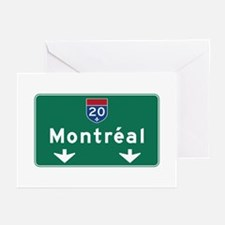Montreal, Canada Hwy Sign Greeting Cards (Pk of 10