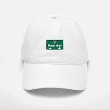 Montreal, Canada Hwy Sign Baseball Baseball Cap