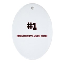Number 1 CONSUMER RIGHTS ADVICE WORKER Ornament (O