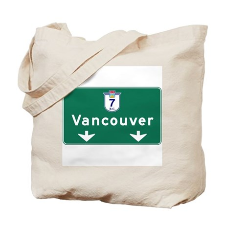 Vancouver, Canada Hwy Sign Tote Bag