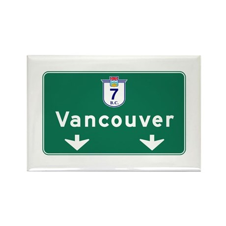 Vancouver, Canada Hwy Sign Rectangle Magnet (10 pa