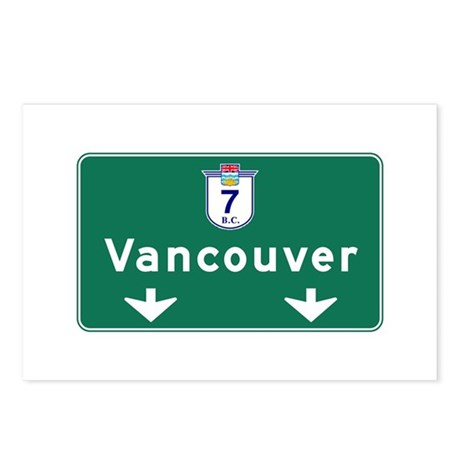 Vancouver, Canada Hwy Sign Postcards (Package of 8