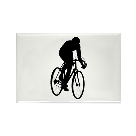 Cycling Rectangle Magnet (100 pack)