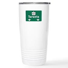 Toronto, Canada Hwy Sign Travel Mug