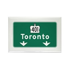 Toronto, Canada Hwy Sign Rectangle Magnet