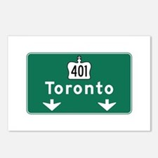 Toronto, Canada Hwy Sign Postcards (Package of 8)