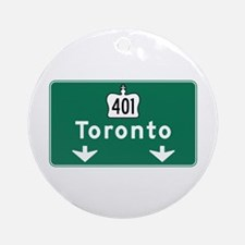 Toronto, Canada Hwy Sign Ornament (Round)