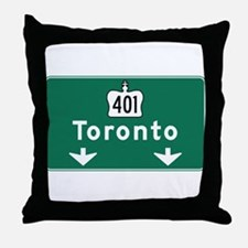 Toronto, Canada Hwy Sign Throw Pillow