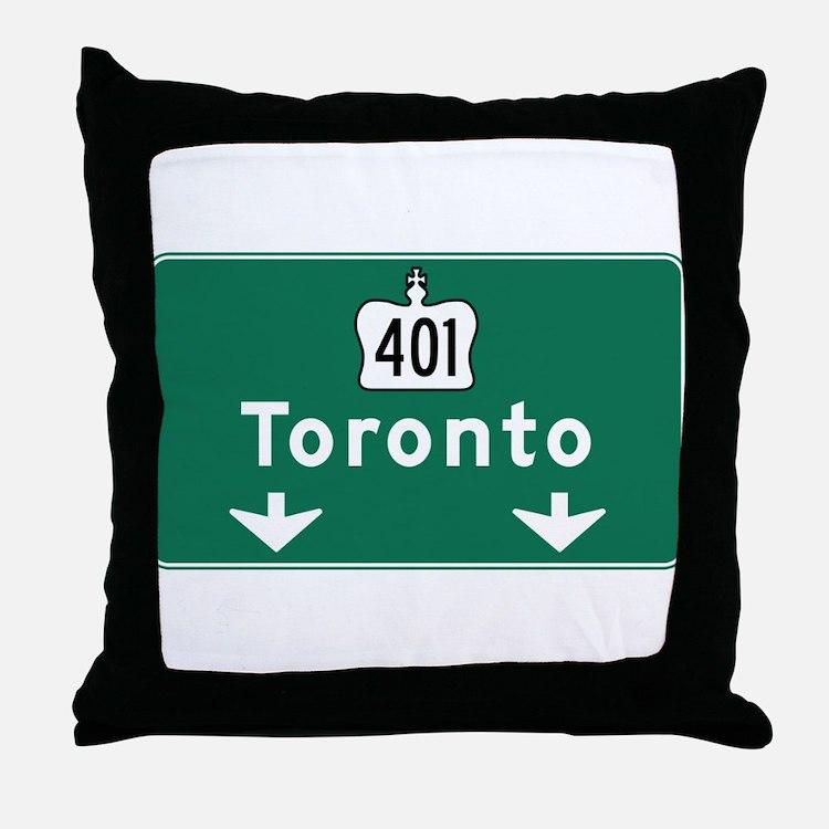 Toronto, Canada Hwy Sign Throw Pillow