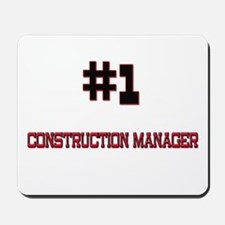 Number 1 CONSTRUCTION MANAGER Mousepad