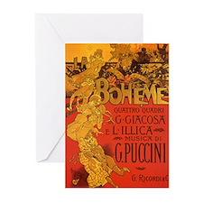 Vintage La Boheme Opera Greeting Cards (Pk of 10)
