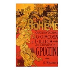 Vintage La Boheme Opera Postcards (Package of 8)