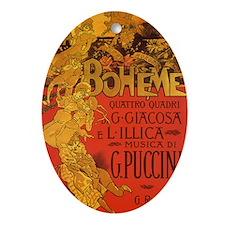 Vintage La Boheme Opera Ornament (Oval)