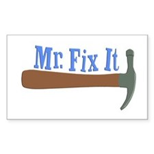 Mr. Fix It Rectangle Decal