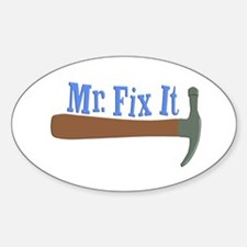 Mr. Fix It Oval Decal