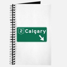 Calgary, Canada Hwy Sign Journal