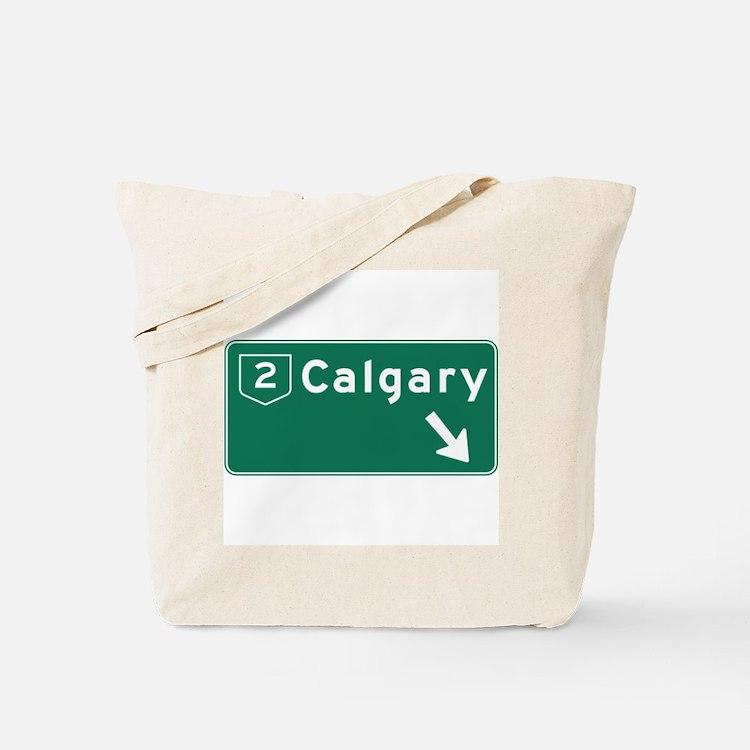 Calgary, Canada Hwy Sign Tote Bag