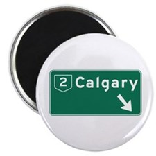 """Calgary, Canada Hwy Sign 2.25"""" Magnet (10 pack)"""