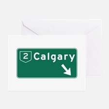 Calgary, Canada Hwy Sign Greeting Cards (Pk of 10)