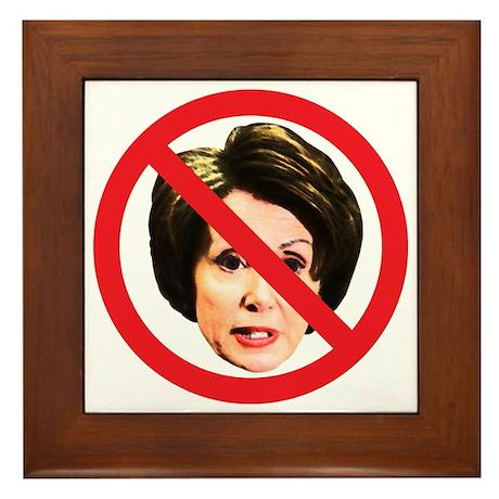No Nancy Pelosi Framed Tile