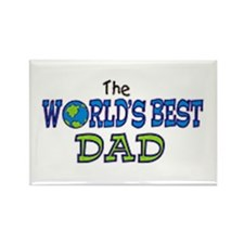 World's Best Dad Fathers Day Rectangle Magnet