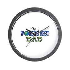 World's Best Dad Fathers Day Wall Clock