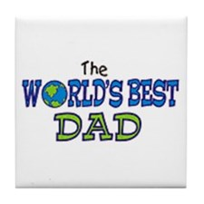 World's Best Dad Fathers Day Tile Coaster