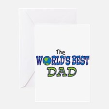 World's Best Dad Fathers Day Greeting Card