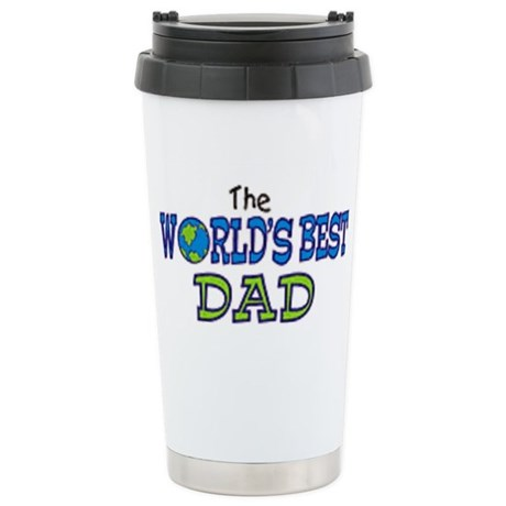 World's Best Dad Fathers Day Stainless Steel Trave