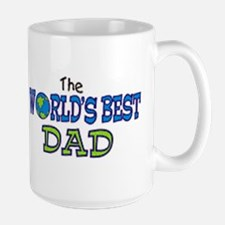 World's Best Dad Fathers Day Large Mug